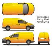 VW Caddy Maxi Kasten 2015 Royalty Free Stock Photo