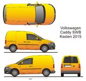 VW Caddy SWB Kasten 2015 Stock Image