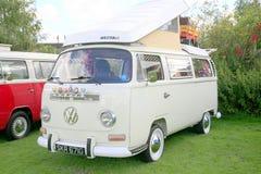 Vw-campareskåpbil 1969 Arkivfoto