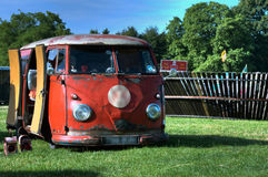 VW-Camper Lizenzfreie Stockbilder
