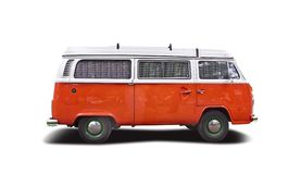VW camper. Isolated on white Stock Images