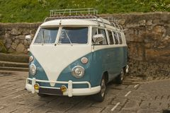 VW Camper Van. Royalty Free Stock Images