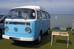 VW Camper Van. A beautiful looking Volks Wagon camper van at Whitstable seaside resort Stock Images