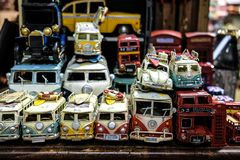 VW Camper Van Toys, Camden Stables Market royalty free stock photos