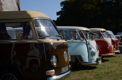 VW Campers. Soft image to give impression of old memory taken at event stock photo