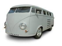 VW clásica Van en pintura de fondo Imagen de archivo libre de regalías