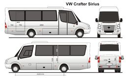 VW Crafter Sirius Images libres de droits