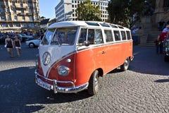VW del Oldtimer tiraniza en el OldtimerCity 2011 en Frankfurt-am-Main Foto de archivo libre de regalías