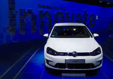 VW-e-golf bij de IAA-Auto's Royalty-vrije Stock Foto's