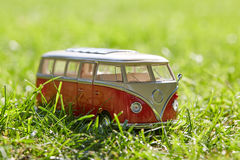 VW figurine bus as a symbol for holiday Stock Photo
