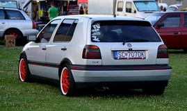 VW GOLF. At at Partizánske at the races Royalty Free Stock Photos