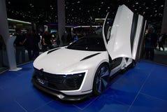 VW Golf GTE Bawi się pojęcie przy IAA samochodami Obrazy Stock