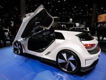 VW Golf GTE Bawi się pojęcie przy IAA samochodami Zdjęcie Stock
