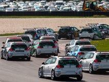 VW Golf race cars Stock Photos