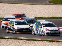 VW Golf race cars Royalty Free Stock Image