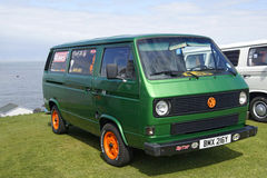 VW Green Van Stock Photography