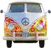 VW-Hippie-Bus Van Isolated lizenzfreie stockbilder