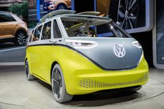 VW ID Buzz electic autonomous van Royalty Free Stock Photo
