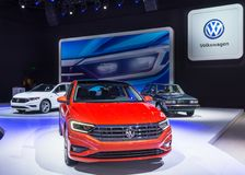 VW 2019 Jetta, NAIAS immagine stock