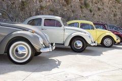 VW-Käfer vom zweiten Krieg in SinsHeim-Museum Stockbild