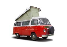VW-kampeerauto Stock Afbeelding