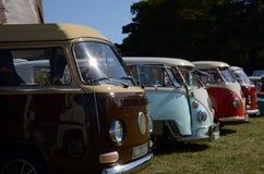 VW-Kampeerauto's Stock Foto
