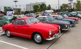 VW Karmann吉阿类型14和34展示在VW俱乐部会议 库存图片