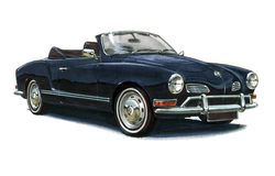VW Karmann Ghia Obrazy Stock