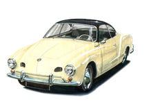 VW Karmann Ghia Arkivfoton