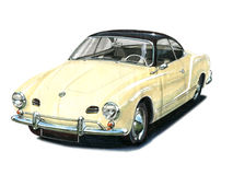 VW Karmann Ghia Stock Photos
