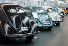 VW-Kevers Käfer in Wolfsburg stock afbeeldingen