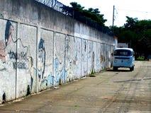 Vw-microbus volkswagen i Brasilien Sao Paulo royaltyfri bild