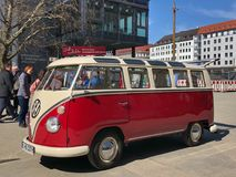 VW Oldtimer. In Munich City Royalty Free Stock Photography