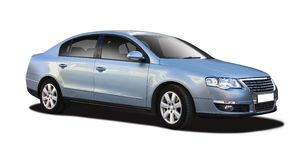VW Passat isolated on white Stock Photo