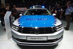 Vw-polisbil på IAA-bilarna Fotografering för Bildbyråer