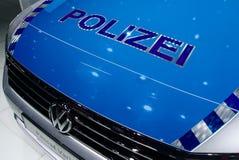 VW-Polizeiwagen an den IAA-Autos Stockbilder