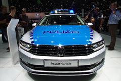 VW-Polizeiwagen an den IAA-Autos Stockbild