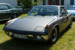 VW-Porsche 914 - a mid-engined, targa-topped two-seat roadster Stock Photo