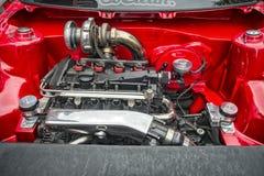 VW sobre el motor diesel limpio Imagen de archivo