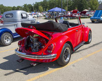 1971 VW Super Beetle Rear View Royalty Free Stock Photography
