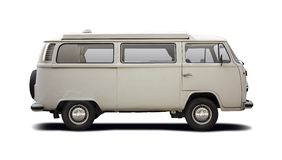 VW T2 camper. Side view isolated on white Stock Photography