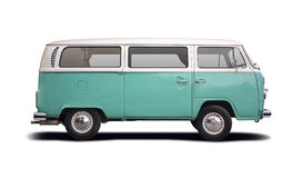 VW T2 camper. Side view isolated on white Stock Image