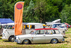Vw t1, t2 and squareback in a sunny day Royalty Free Stock Photos