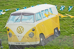 VW tent at Braemar Gathering Stock Photo