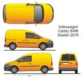 VW-Theebus SWB Kasten 2015 vector illustratie