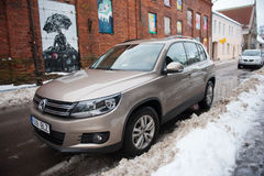 VW Tiguan parked uo on a street stock image