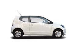 VW up. Side view isolated on white Royalty Free Stock Photos
