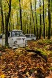 VW Van del vintage - tipo II de Volkswagen - depósito de chatarra de Pennsylvania fotografía de archivo