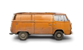 VW Van T1. Orange VW Van T1  isolated on white background Royalty Free Stock Photography