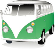 VW Van Vector Royalty Free Stock Photography